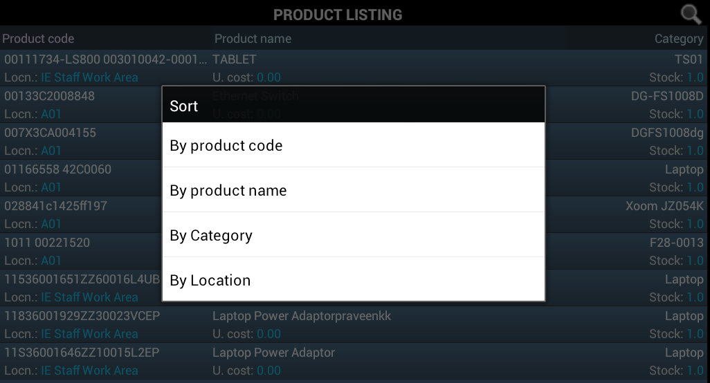 Sort_Product